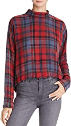 69228dc1a60 Bella Dahl Womens Lace Back Plaid Pullover Top