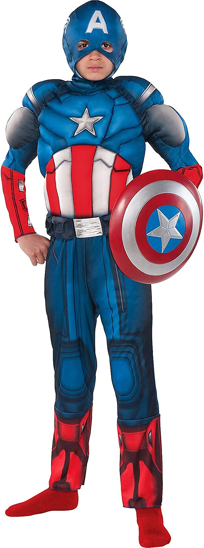 Costumes USA Disfraz de Capitán América para niños, talla pequeña ...