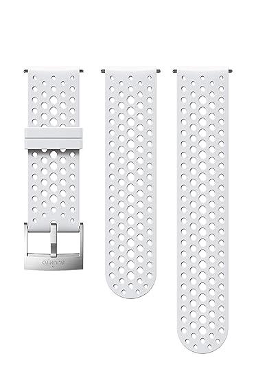 Suunto SS050224000 Correa de sustitución original para todos los relojes Suunto Spartan Sport WRH y Suunto 9, silicona, largo: 22,9 cm, ancho: 24 mm, ...