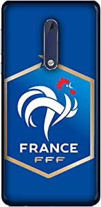 ColorKing Football France 14 Blue shell case cover for Nokia 5