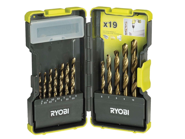 Ryobi RAK19HSS RAK-19HSS Coffret de 19 forets HSS (Import Grande Bretagne)
