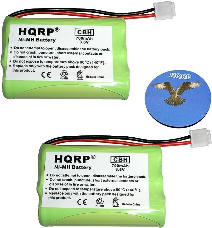 HQRP batería de móvil para General Electric GE 5 – 2459 – 52459 Thomson Pack de 2 – 2522 5 – 2548 52548 27831 repuesto teléfono inalámbrico + posavasos: Amazon.es: Electrónica