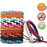 Pathonor Mosquito Repellent Bracelet 12PCS Wrist Bands 100% All Natural Plant-Based Oil,Keeps Insects & Mosquito Away,Perfect for Sport,Outdoor, Camping, Traveling, Protection Babies
