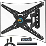 TV Wall Mount Full Motion for 28-80 Inch Up to 110 lbs to Flat & Curved TV, JUSTSTONE TV Bracket Heavy Duty Articulating Arm