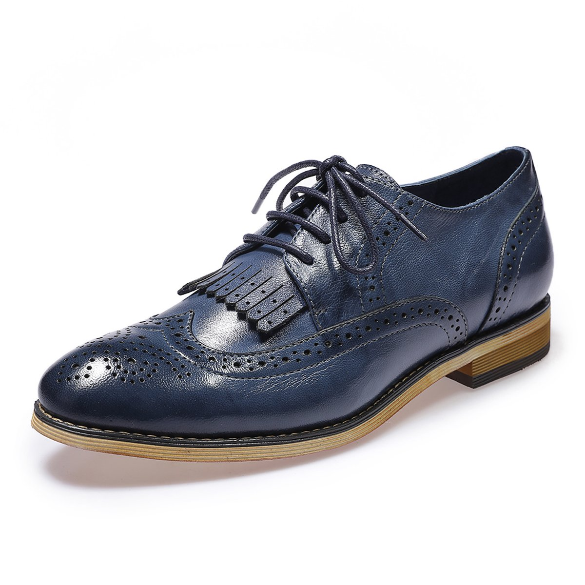 bf98cc840a Mona Flying Women's Leather Perforated Lace-up Oxfords Shoes for Women  Wingtip Multicolor Brougue Shoes: Amazon.ca: Shoes & Handbags