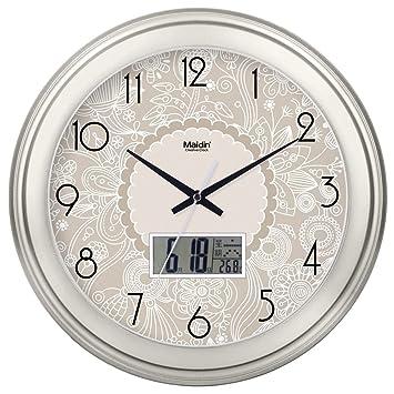 Reloj europeo reloj de pared elegante sala de estar redondo ...