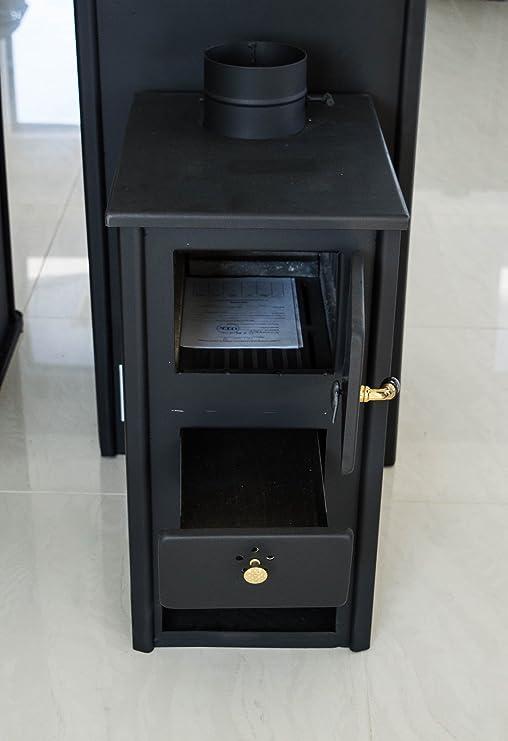 Estufa para madera, chimenea de combustible sólido Log quemador quemador de madera 5 kW prometey miniB: Amazon.es: Bricolaje y herramientas