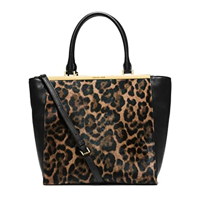 13524f984996 ... discount code for michael kors lana leopard print hair calf and leather  tote leopard 07ec9 8cdfe