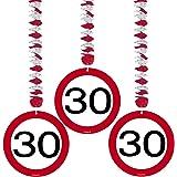 Geburtstag Party Verkehrsschild 7,6cm Dekoration zum Aufhängen–30. Geburtstag