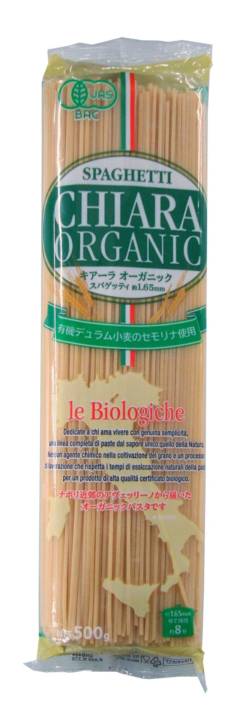 Chiara Organic spaghetti (1.65mm) 500gX24 pieces