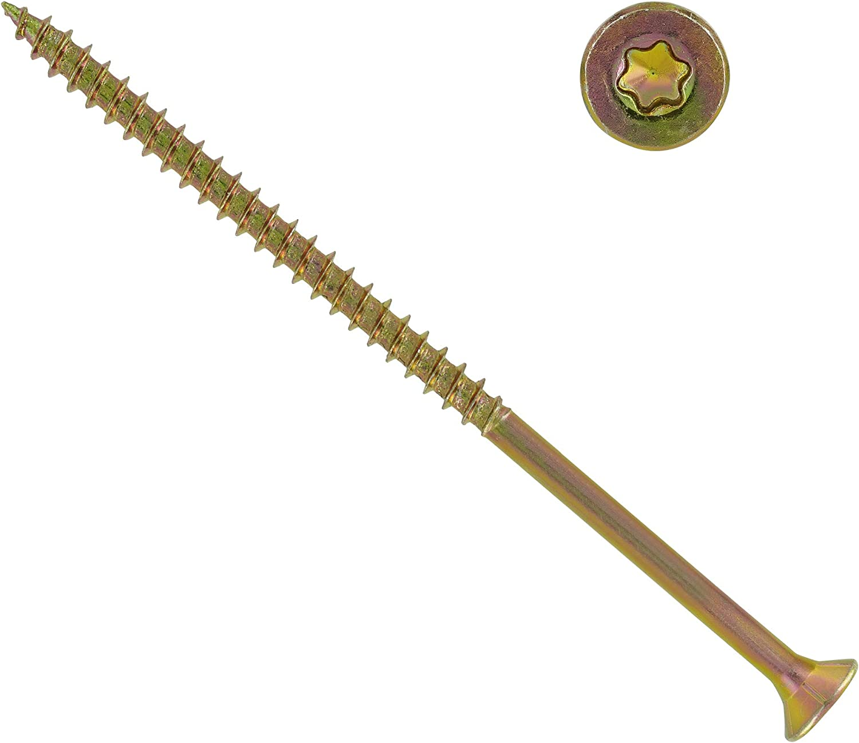 1000 St/ück Spanplattenschrauben 3,5 x 30 mm TX10 Teilgewinde Holzschrauben Universal Schrauben Q200 Torx verzinkt gelb