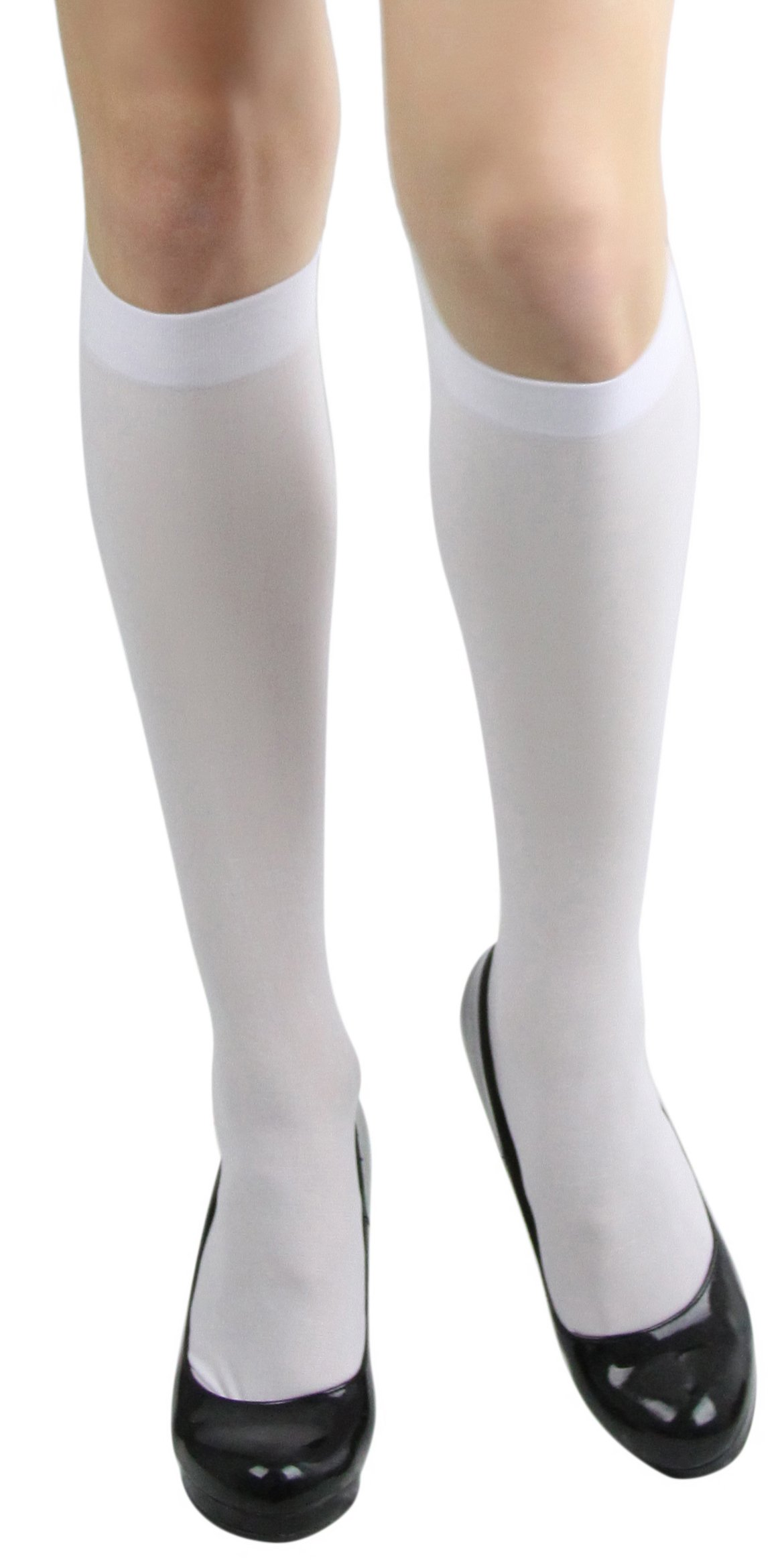 ToBeInStyle Womens Pack of 6 Knee High Trouser Socks - White - One Size
