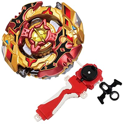 Bey Burst Evolution Turbo Battling Tops Blade God Bey with Lr Launcher Grip Starter Set B-128 Booster Super CHO-Z SPRIGGAN.OW.ZT Attack Gyro Bay Battle Gaming Tops Novelty Spinning Toy Gift for Boys: Toys & Games