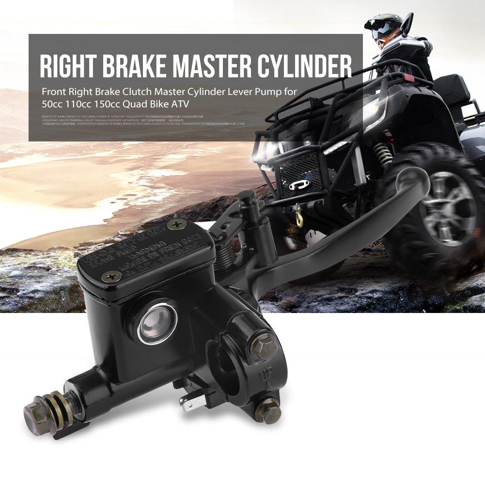 Ma/ître-cylindre de Frein Droite Keenso 7//822mm Avant Hydraulique Frein Ma/ître Cylindre Levier dEmbrayage de Frein pour 50cc 110cc 150cc Quad Bike ATV