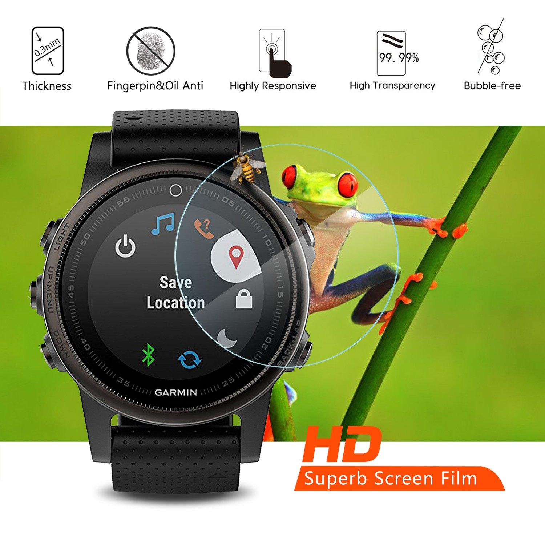 [4 Unidades] Protector de Pantalla para Garmin Fenix 5S Akwox [9H Dureza] Cristal Vidrio Templado para Garmin Fenix 5S Cristal Templado: Amazon.es: ...