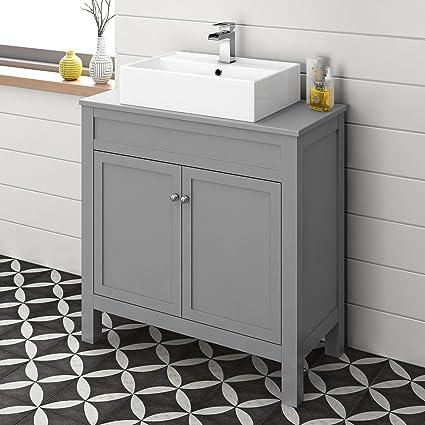 Admirable 800 Mm Grey Countertop Vanity Unit Basin Sink Floor Standing Download Free Architecture Designs Ogrambritishbridgeorg