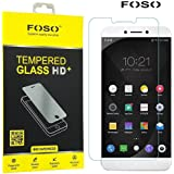 FOSO(TM) LeEco Le Max 2 (5.7 Inch) Round Curved 2.5D Edge 9H Hardness Toughened Tempered Glass Screen Guard Protector