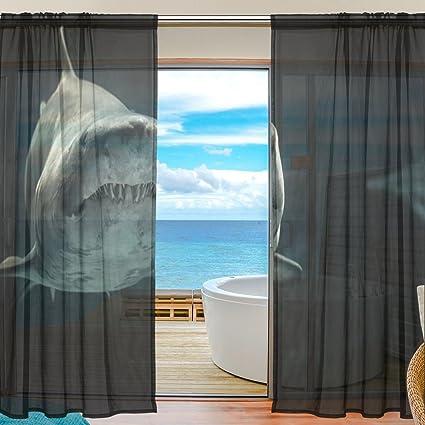 Yibaihe Finestra Tende Pannelli Window Trattamento Set Voile ...