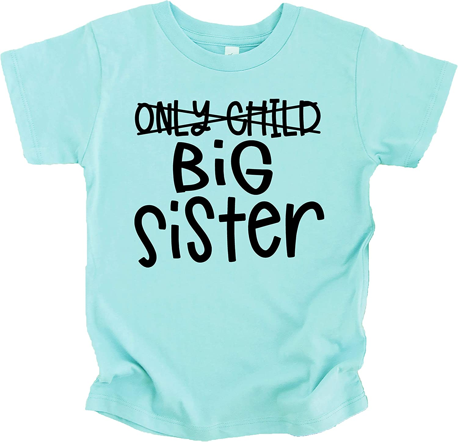 Olive Loves Apple Only Child to Big Sister Sibling Announcement Shirts for Baby and Toddler Girls Sibling Outfits