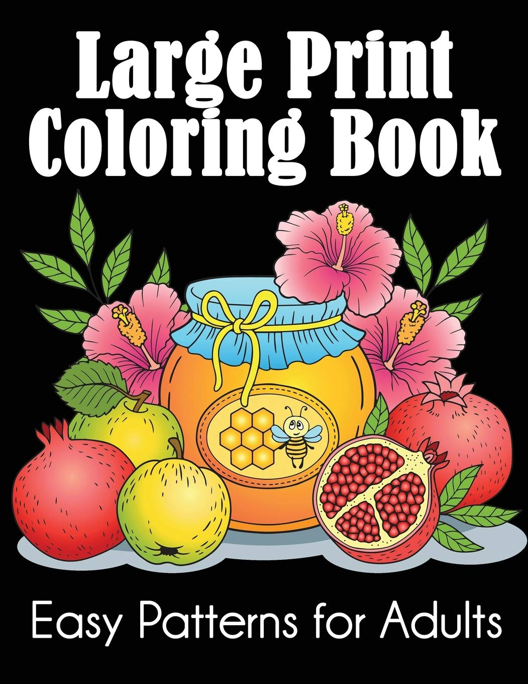 Amazon Com Large Print Coloring Book Easy Patterns For Adults 9781949651768 Dylanna Press Books