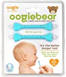 oogiebear - The Safe Baby Nasal Booger and Ear Cleaner; Baby Shower Gift and Registry Essential Snot Removal Tool - Two Pack - Blue