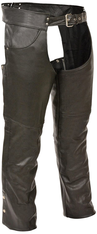 Milwaukee Mens 1.2mm Premium Leather Plain Lined Chaps Black, Medium