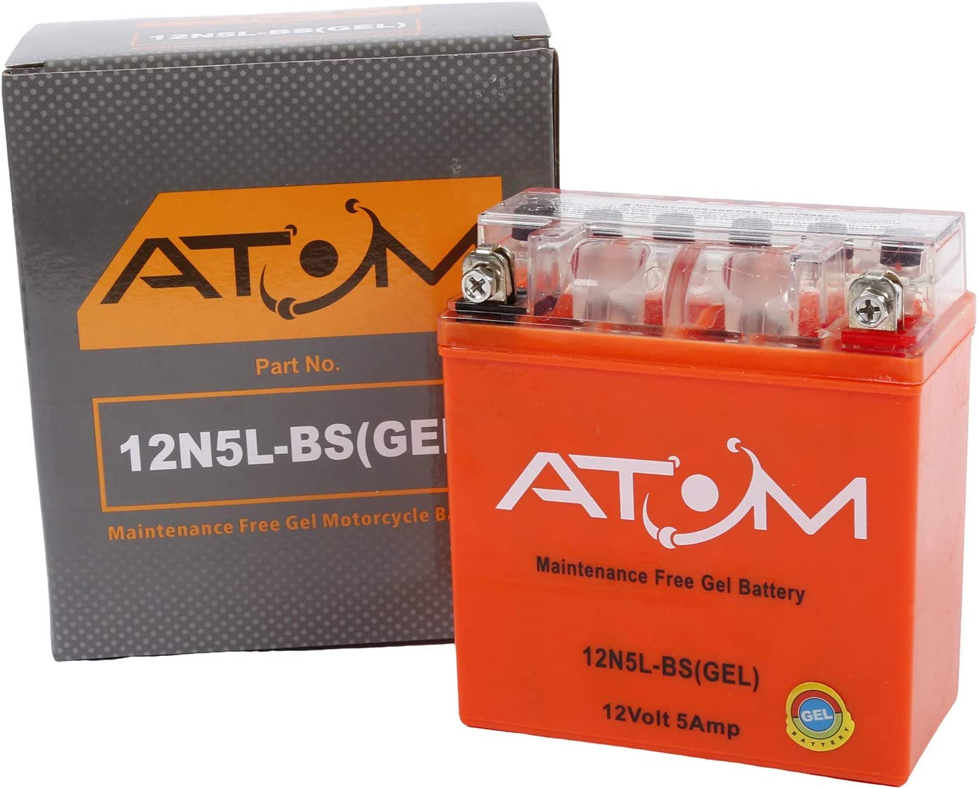 12N5-3B Replaces YB5L-B Atom Advanced 12N5L-B Gel Motorcycle Battery 505 012 003