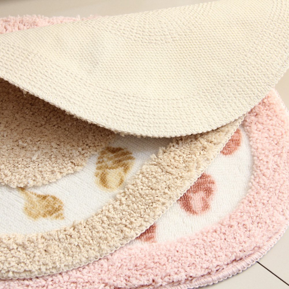 Licheng Seashell Pattern Oval-Shaped Microfiber Polyester Bathroom Rugs 15.7inch by 23.6inch, Blue COMIN16JU042188