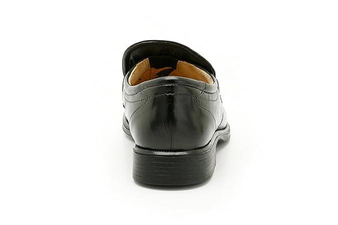 Para hombre Clarks Formal Slip On Zapatos mango trabajo, color negro, talla 39.5: Amazon.es: Zapatos y complementos
