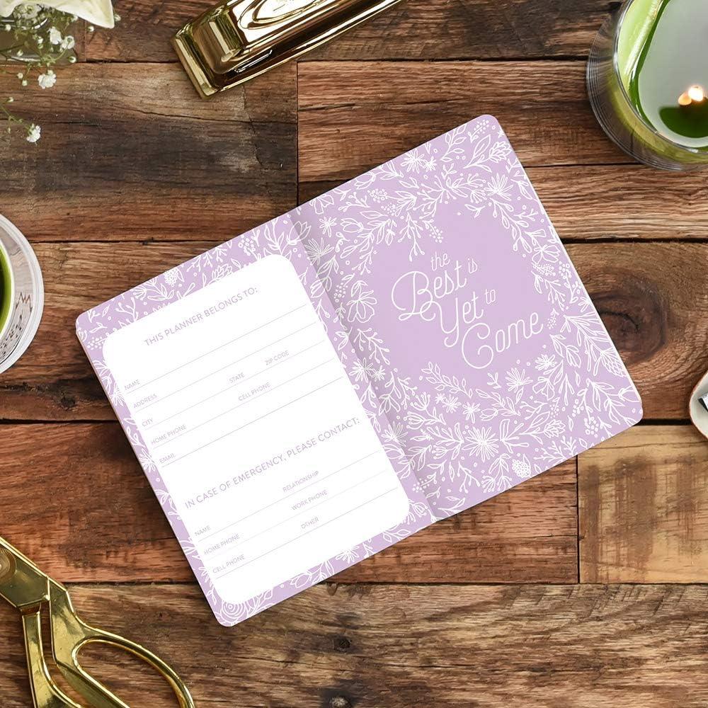 Floral Vines Pink Orange Circle Studio 2020 Monthly Pocket Planner