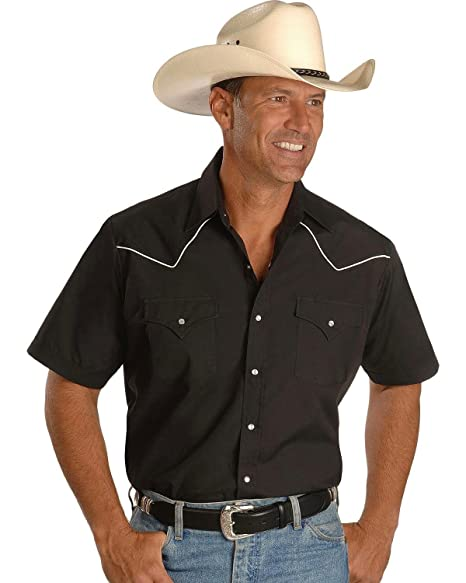 a7fb09aa768 ELY CATTLEMAN Men's Short Sleeve Western Shirt