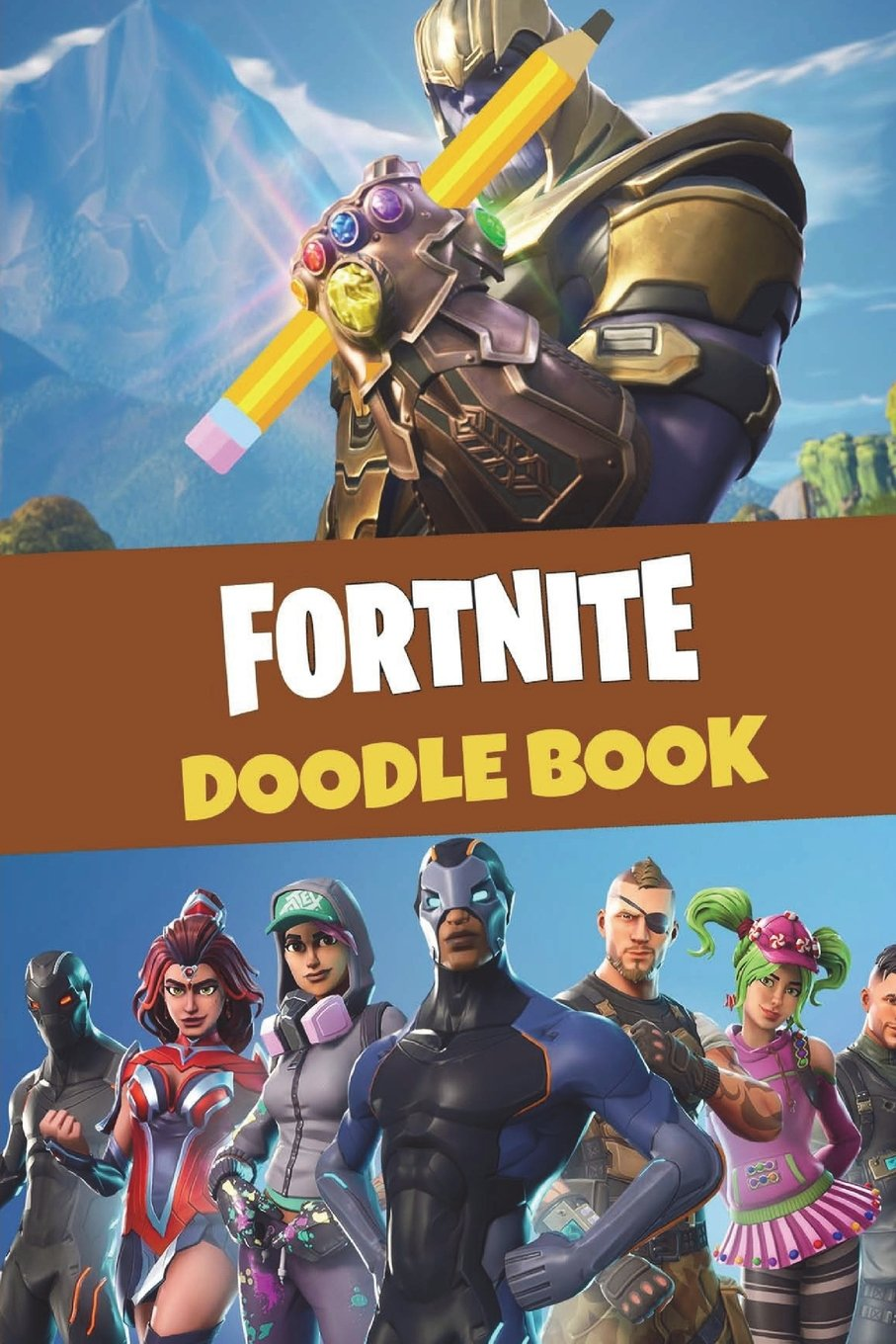 fortnite doodle book over 150 pages for you to draw your favourite characters map concepts and weapon designs all included in an awesome high quality - fortnite books free
