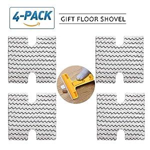 KHTO 4 Pack Replacement Steam Mop Pads for Shark Lift-Away & Genius Steam Pocket Mop S3973D S3973 S5003D S6002 Compatible Part XTP184