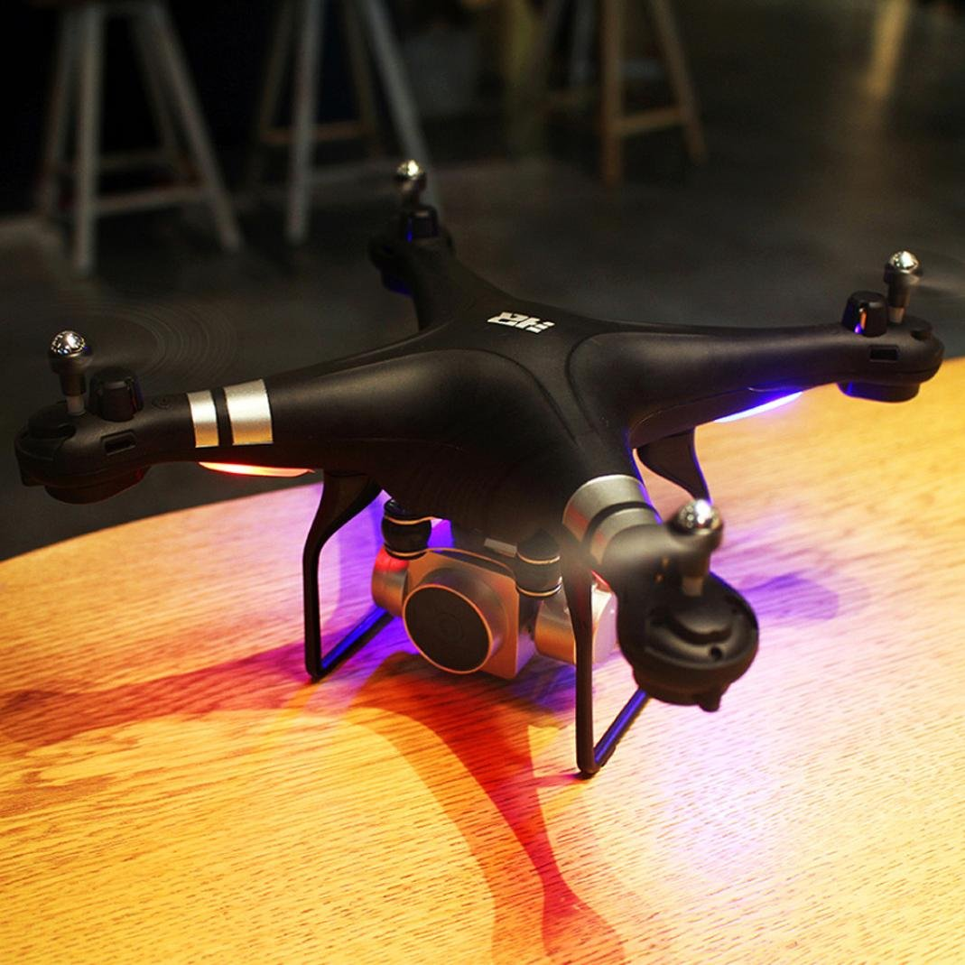 Digood RC Quadcopter 1080P Wide Angle Lens 270 Degree Rotating HD Camera Drone FPV (Black)