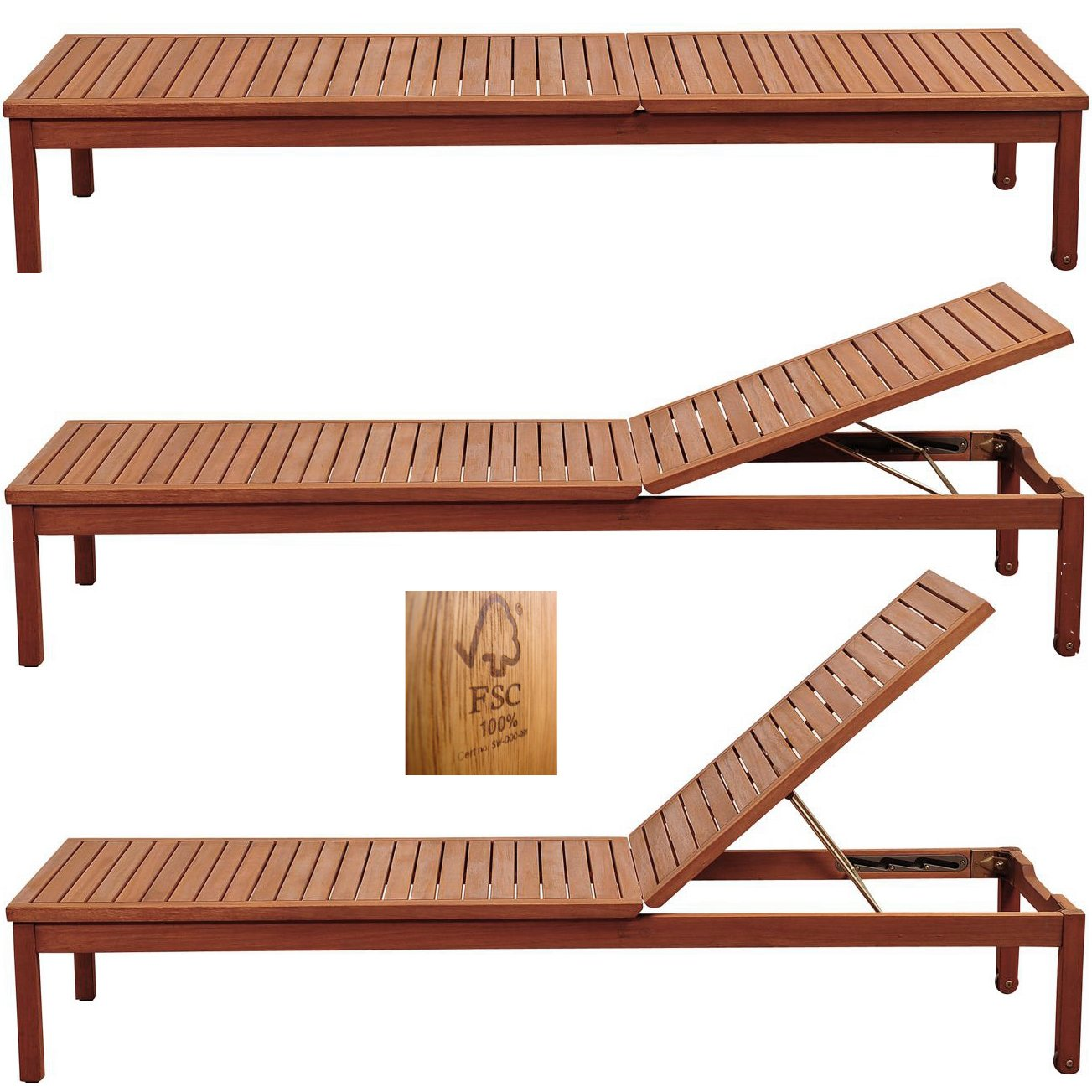 Amazon.de: Holzliege Gartenliege Sonnenliege Relaxliege Liegestuhl ...