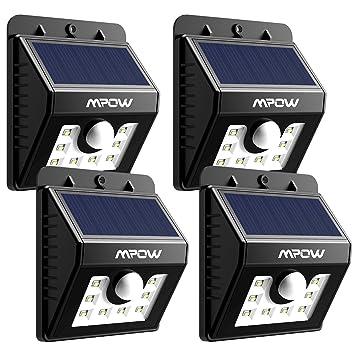 4 PACK] Mpow Lampe Solaire LED Etanche Faro Lumiere 8 LED avec ...