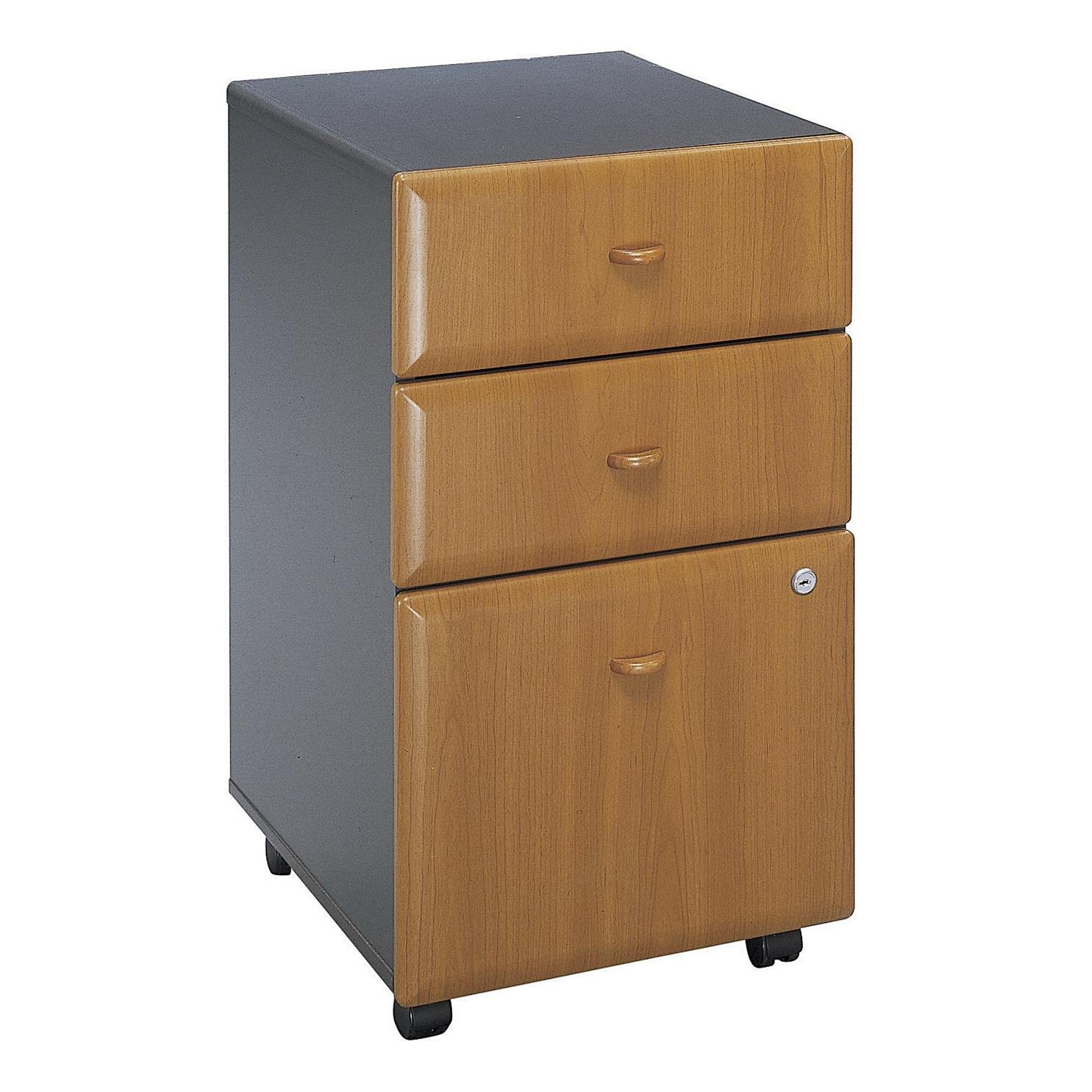 Bush Natural Cherry Series A Mobile Pedestal (B-B-F)