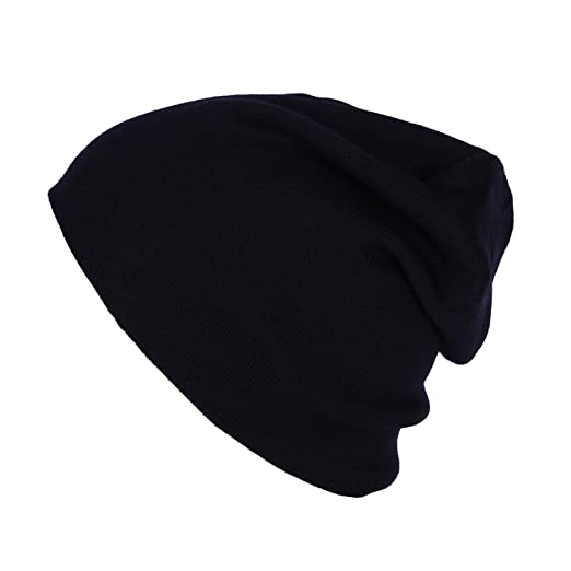 cf925aa0284d6 HDE Black Beanie for Women Chemo Cap Skullie Knit Hats at Amazon ...