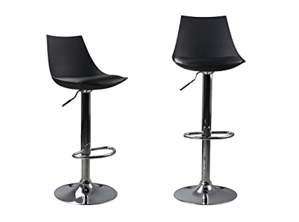 Super Bar Stools Set Of 2 Yk Decor Pu Leather Modern Adjustable Swivel Bar Stools Hydraulic Lift Counter Height Dining Chair Barstools Machost Co Dining Chair Design Ideas Machostcouk