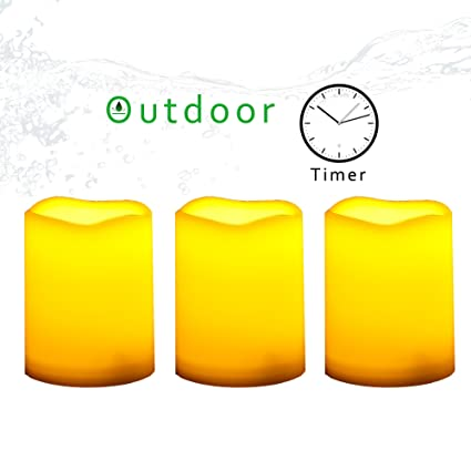 Amazon.com: CANDLE CHOICE Outdoor Flameless Candle with Timer ...