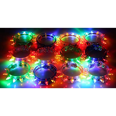 Light-up Flashing LED Spike Bracelets (2 Dozen - 24 Pcs): Toys & Games