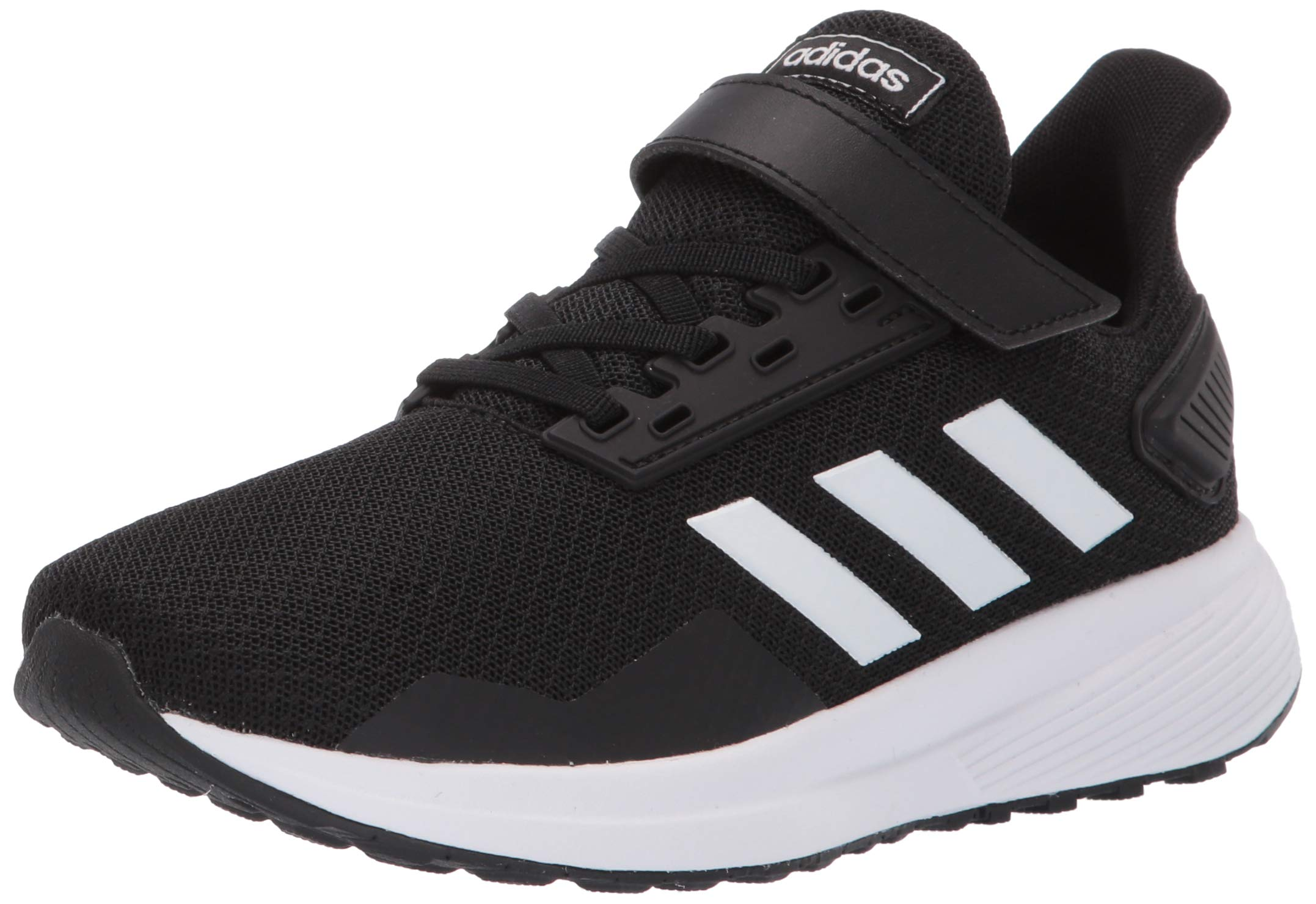 adidas Unisex Duramo 9 Running Shoe, White/Black, 11.5K M US Little Kid