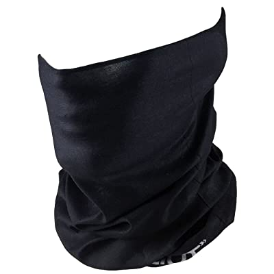 Outdoor Neck Gaiter - Perfect for Motorcycle Riding, Skiing, ATV/UTV Riding, Fishing - Work as Sun Mask, Dust Mask, Neck Gaiter, Balaclava, Bandana - Breathable Seamless Microfiber (Plain Black): Automotive