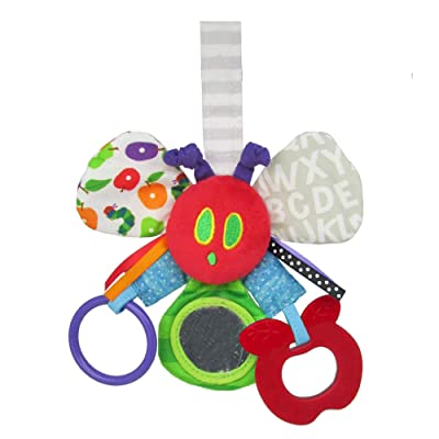 World of Eric Carle, The Very Hungry Caterpillar Elephant Teether Rattle : Baby Toys : Baby