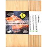 """Nature Carrier 8 Pack Cedar Planks for Grilling Salmon/Fish with Thicker (4/10"""") & Larger (12""""x 6"""") Size. Add Extra Flavor an"""