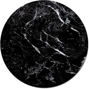 Counterart Glass Lazy Susan Serving Plate with Black Marble Design