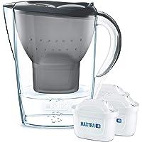 BRITA Marella koelkast waterfilterkan voor vermindering van chloor, kalk en onzuiverheden, Inclusief 3 x MAXTRA…