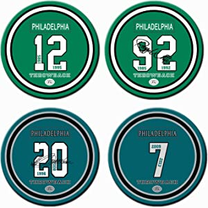 Set of 4 Man Cave Coasters, Philadelphia Football Drink Coasters, Ceramic Non Eagles Coasters, for Man Cave Stuff Eagles Home Decor Table Cup Mug , Eagles Party Supplies, Eagles Gifts for Women Men