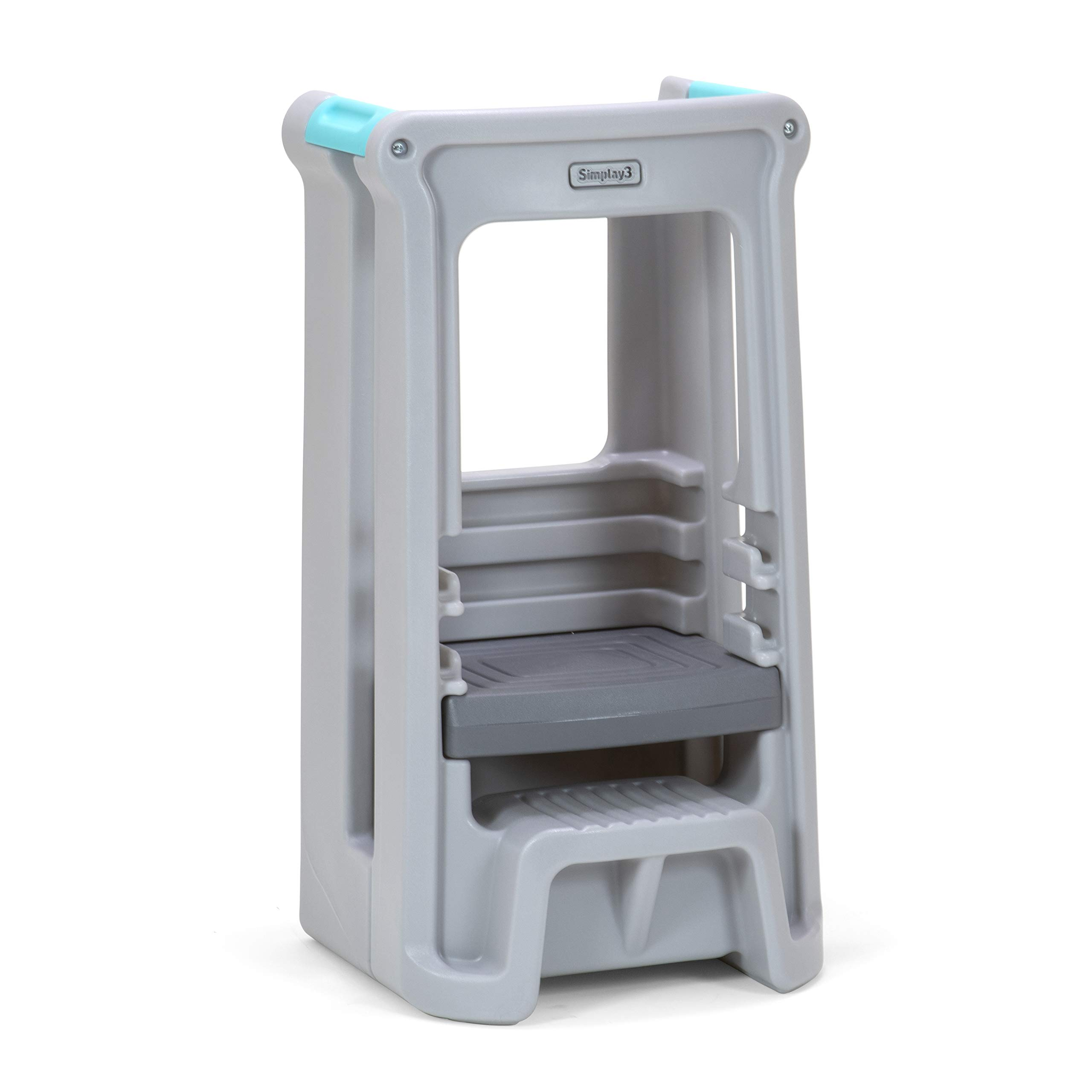 Simplay3 Toddler Tower Childrens Step Stool with Three Adjustable Heights, Gray by Simplay3 (Image #2)