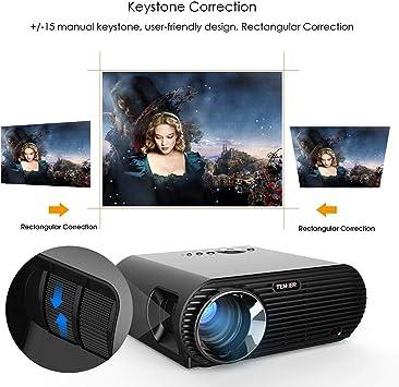 Proyector, TENKER Mini proyector de Video 3200 lúmenes Full HD ...